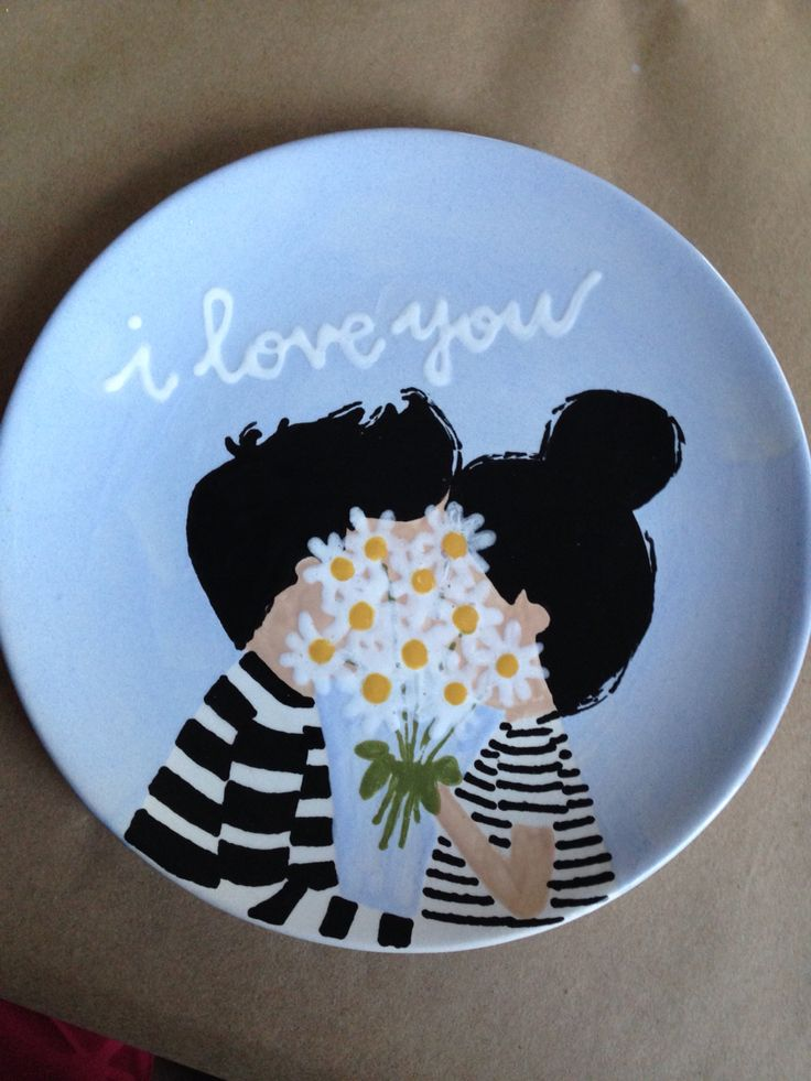 I love you plate                                                                                                                                                                                 More