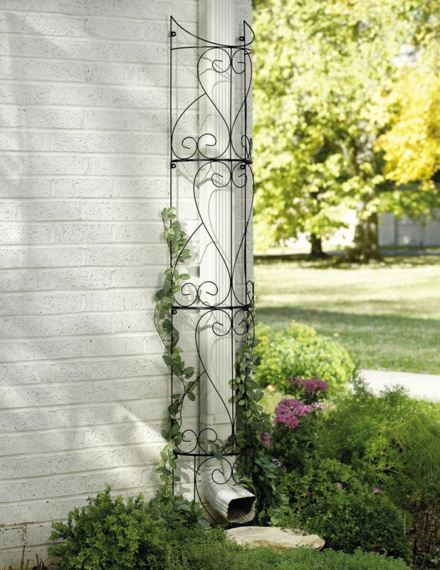 Circular Outdoor Metal Flower Trellis Garden Yard Garden Decor New