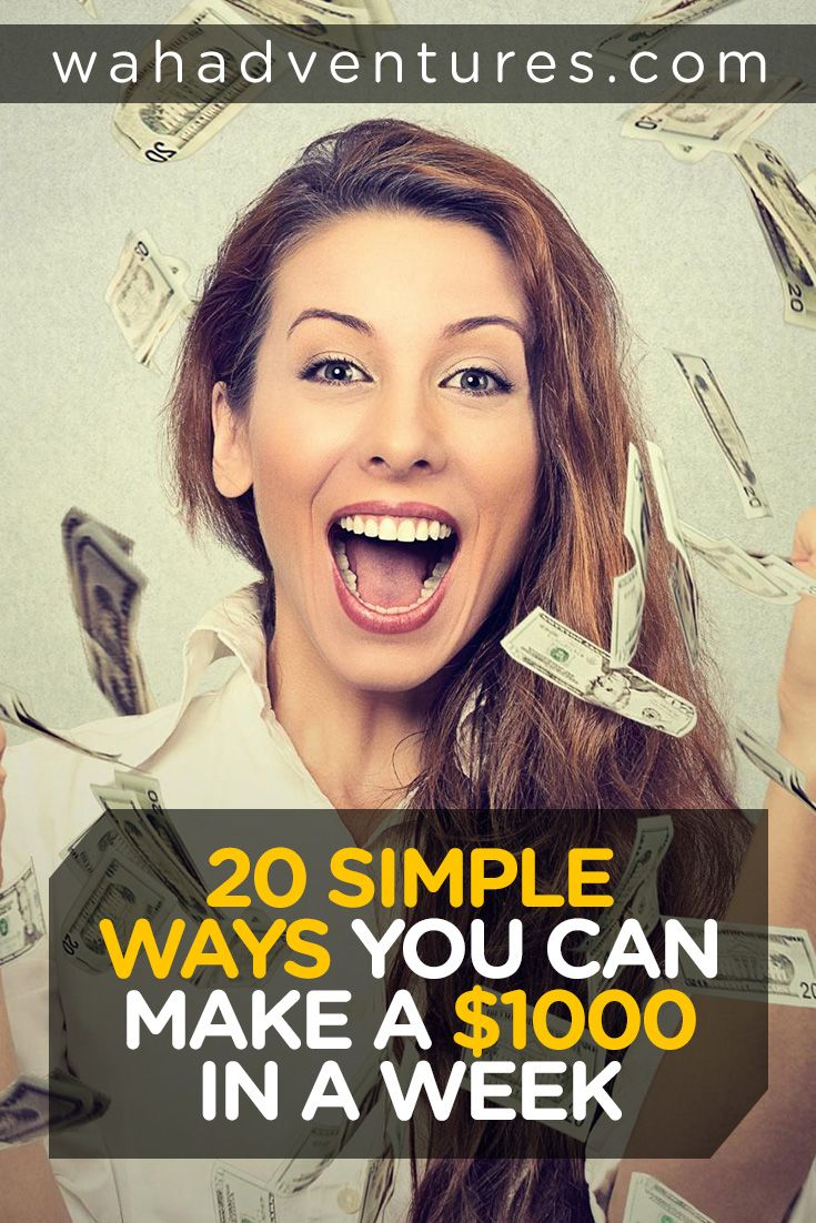 Learn how to make a thousand dollars a week. These quick and easy money-making methods are going to blow your mind and they are super simple.