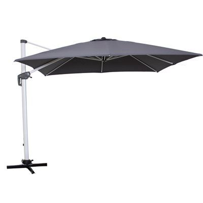 Allen + Roth Collection Name Charcoal Offset Patio Umbrella Base Included  (Common: W X L; Actual: W X L)