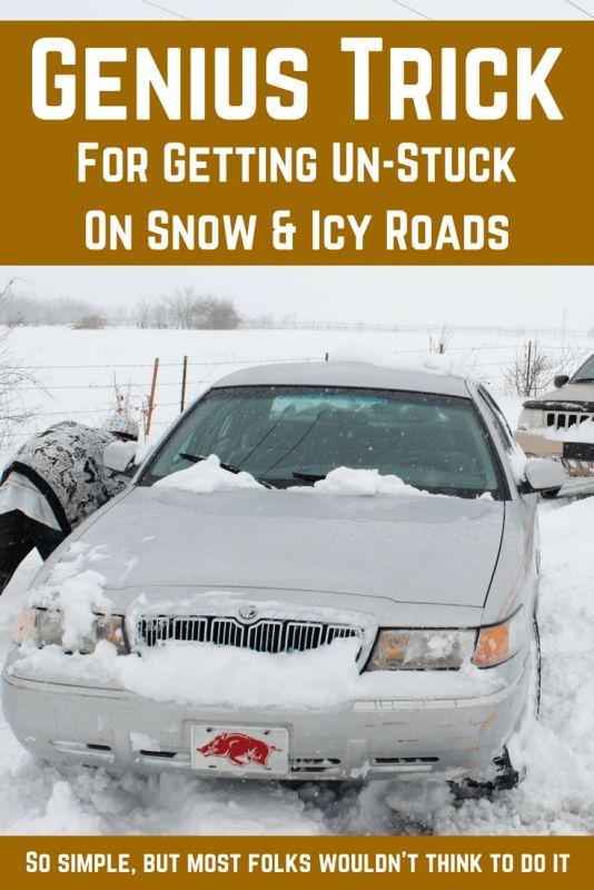 AMAZING Survival Hack For Getting Unstuck On Icy Roads