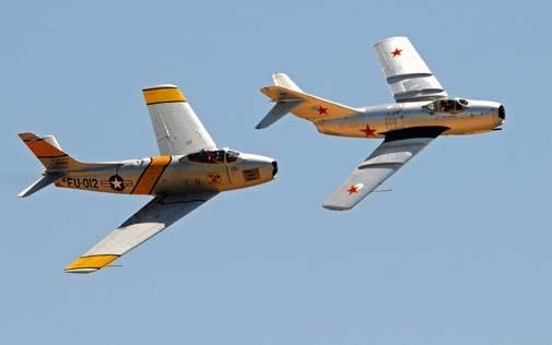 History in Flight | Military Aviation | Air & Space Magazine F86+MIG-15