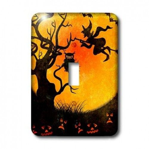 3dRose LLC lsp_24144_1 Halloween Backdrop, Single Toggle Switch  Halloween Backdrop #Light #SwitchCover is made of durable scratch resistant metal that will not fade, chip or peel. Featuring a high gloss finish, along with matching screws makes this cover the perfect finishing touch. Features : Dimensions: 3 1/2-Inch H x 5-Inch W *Made of strong, durable scratch-resistant metal *Includes matching screws *High gloss finish *Easy to clean