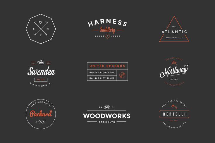 Hipster vintage logo pack by victorbarac graphic design for Hipster logo generator