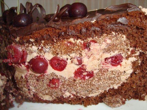 Торт Пьяная вишня.