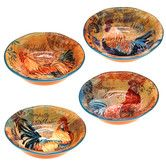 Found it at Wayfair - Rustic Rooster 4 Piece Soup/Pasta Bowl Set