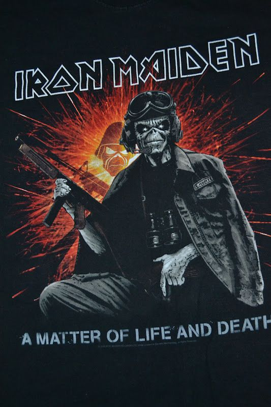 iron maiden a matter of life and death shirt | IRON MAIDEN band A Matter of Life and Death World Tour T-shirt (SOLD)