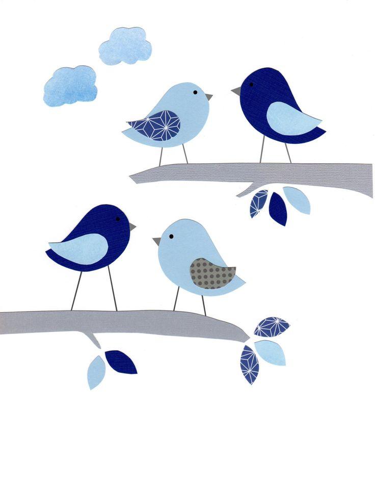 Pájaros en ramas