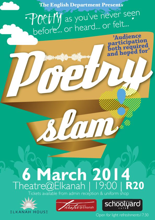Don't miss the POETRY SLAM!