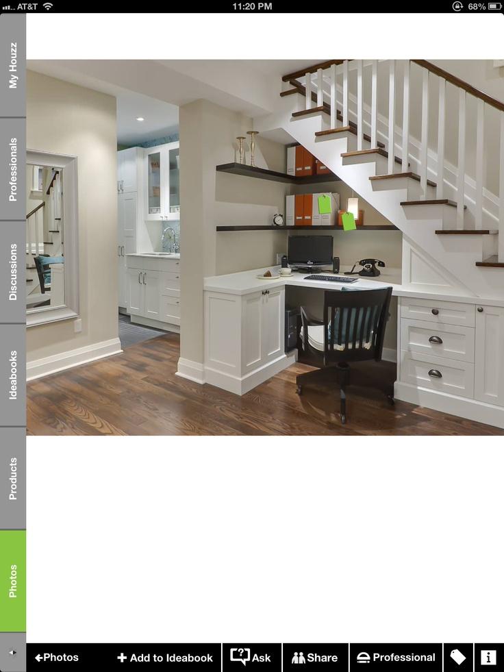 Best Under Stairs Desk Basement Pinterest Stairs Desks 400 x 300
