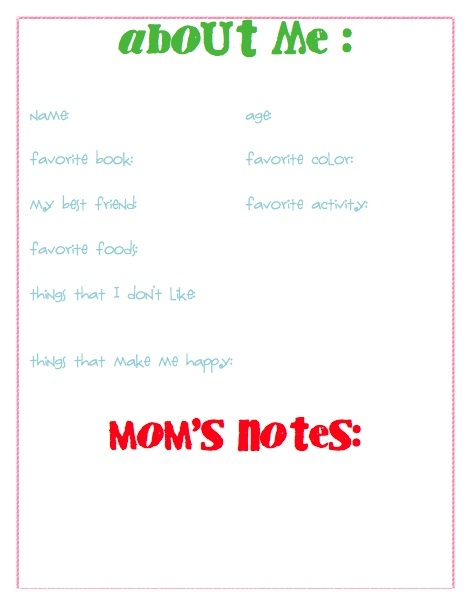 Worksheets Babysitting Worksheets 1000 images about kids journal page ideas on pinterest karatootie all me free printable