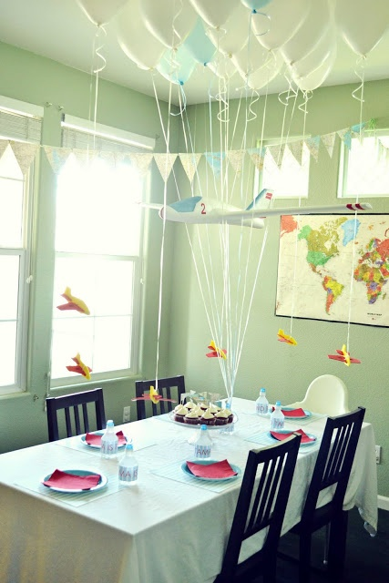 46 best images about paper airplane party on pinterest for Aviation decoration ideas