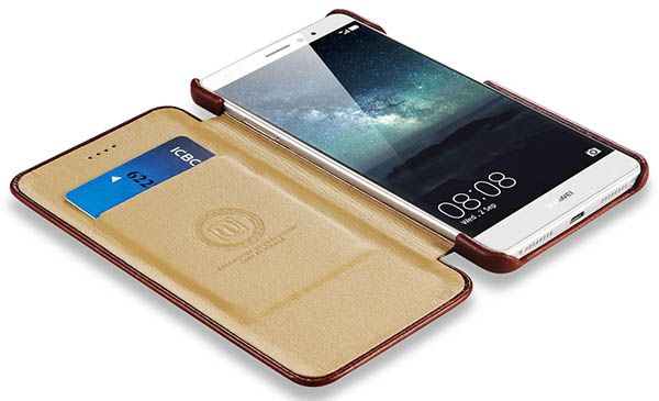 iCarer HuaWei Mate S Case Vintage Series Genuine Leather Wallet Case Cover