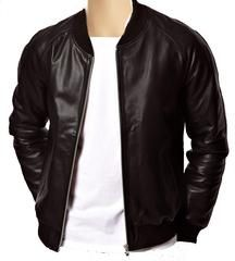 If you want to look dashing style wear a Leather Bomber Jacket  with  plain black with ribbed hem and cuff  also in various other colors  shades at Lusso Leather at affordable price. Buy online  with free delivery.