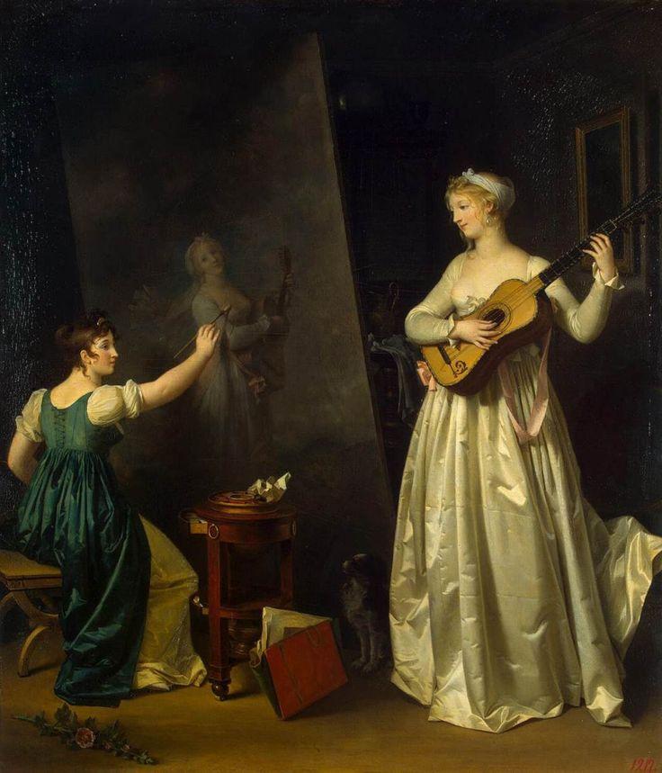 Artist Painting a Portrait of a Musician Marguerite Gérard