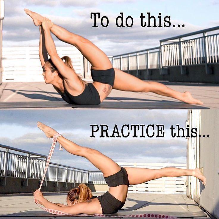 """""""Ich finde diese Pose unglaublich anspruchsvoll, noch mehr als ein stehender Tänzer. O #fitness"""