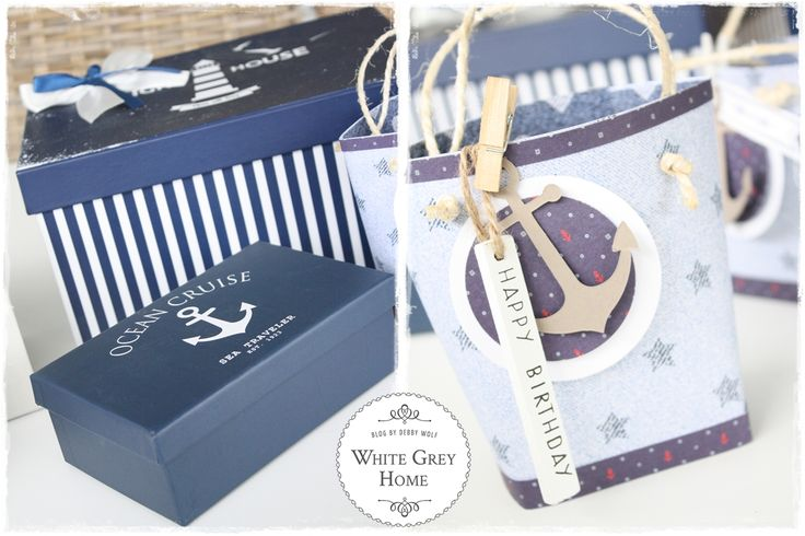 white grey home: Maritime Mini Strandtasche aus Papier