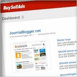 During the last few weeks, readers have emailed me to ask what type of advertising extension I use on this blog. Actually, I'm not using a Joomla extension for it at all. Rather, this blog's ads are served using the buysellads.com service.Buysellads.com is an ad network and service that helps you sell ads on your site. By setting up properties on your Joomla site, you can use the buysellads system to administer everything. That is, the sales page for the ads, how many ads are sold, receiving…