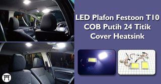 Takekimurah: LED Plafon Festoon T10 COB Putih 24 Titik Cover He...