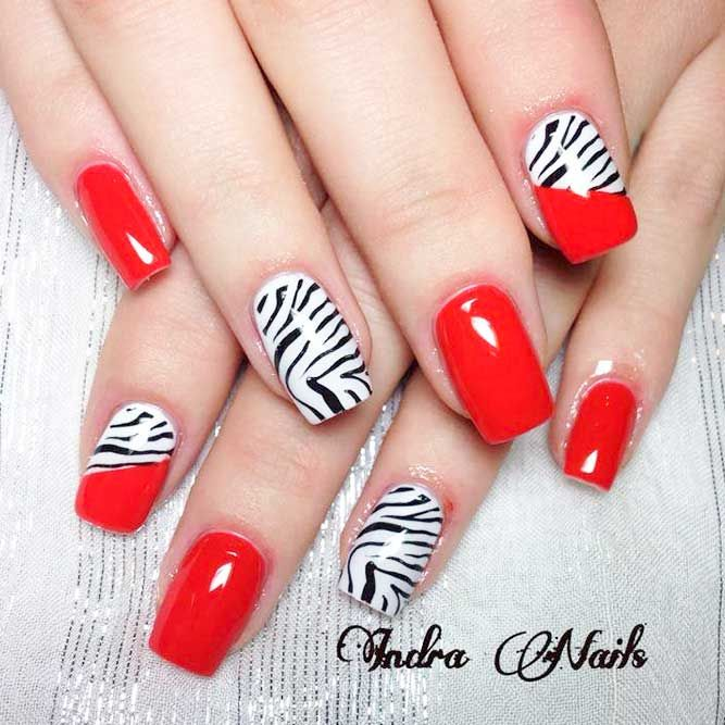 Best 25 red nail art ideas on pinterest red nails red nail 20 totally sinful and seductive red nails designs prinsesfo Image collections