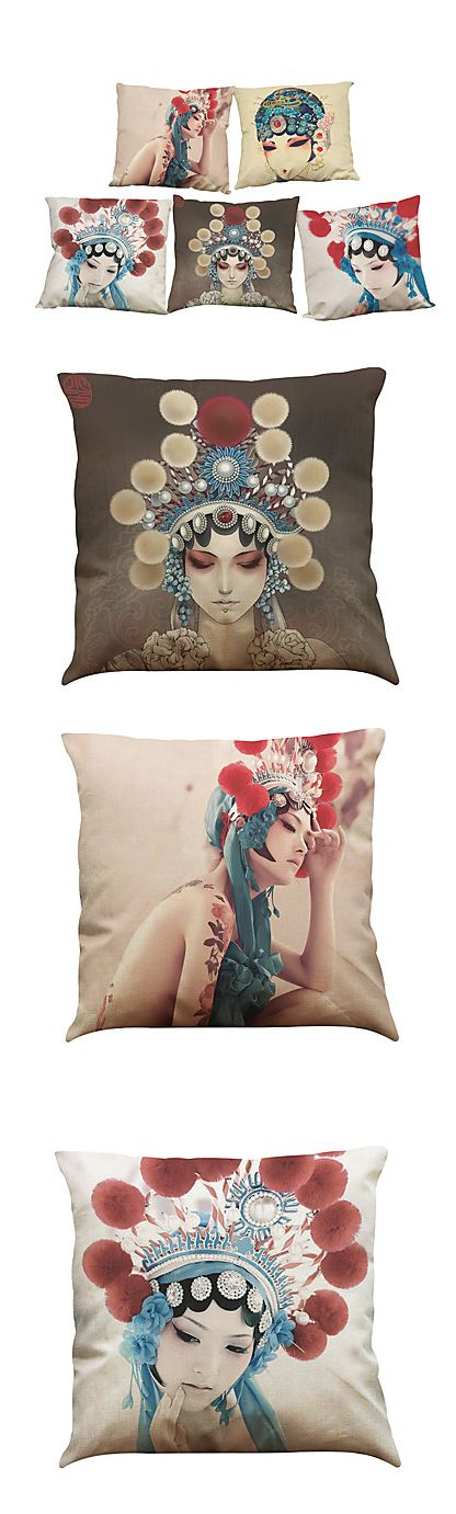 Mesmerizing Chinese Opera theme print pillow cases!!!! We just love them, and you? Check out this charming set of 5 pillow cases at €24.49 only.