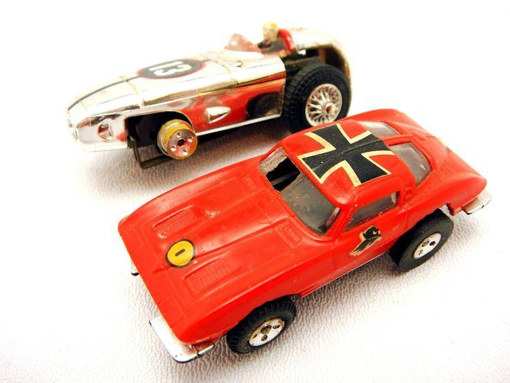 Lot Of 2 Vintage Slot Racing Cars HO Scale Aurora Thunderjet T Jet | eBay