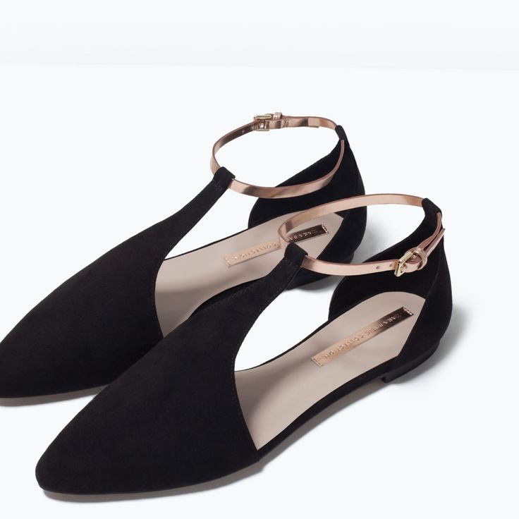 ANKLE-STRAP FLATS-Shoes-Woman-SHOES & BAGS | ZARA United States | $59.90