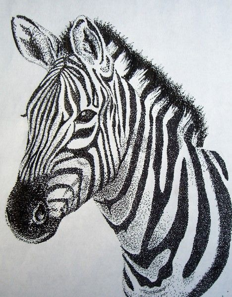 Zebra Stippling by Ashley Odell on ARTwanted
