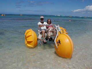 ride a water bike - oh I want one of these!