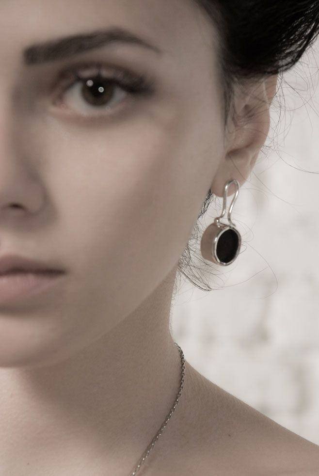 Melio Jewels: ANATOMY silver , plexiglas , earrings