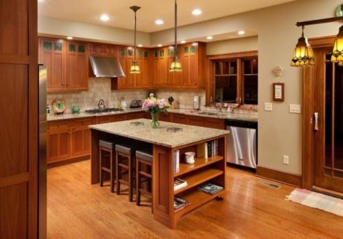 light and dark: Kitchens Interiors, Kitchens Design, Traditional Kitchens, Craftsman Home, Kitchens Ideas, Kitchens Islands, Craftsman Kitchens, Craftsman Style, Kitchens Cabinets