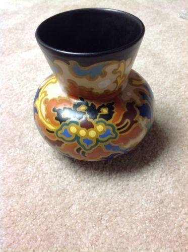 222 VINTAGE DUTCH ART GOUDA ZUID-HOLLAND REGINA DUTCH MAT GLAZE HANDLED VASE ROSARIO in Pottery & Glass, Pottery & China, Art Pottery, Gouda | eBay
