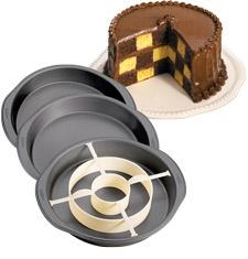 Wiltons checker cake set.