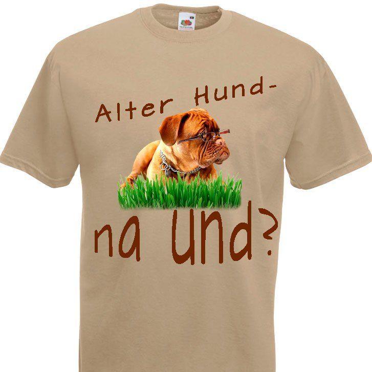 Herren T-Shirt Alter Hund - na und?