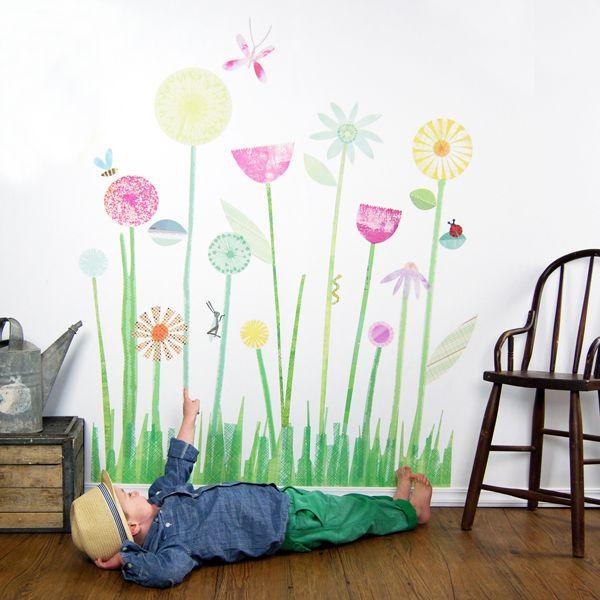 Wall-Stories_Garden: Rooms Accessories, Gardens Murals, Flowers Wall Decals, Rooms Ideas, Flower Wall Decals, Wall Stickers, Flowers Garden, Fabric Walls, Fabrics Wall