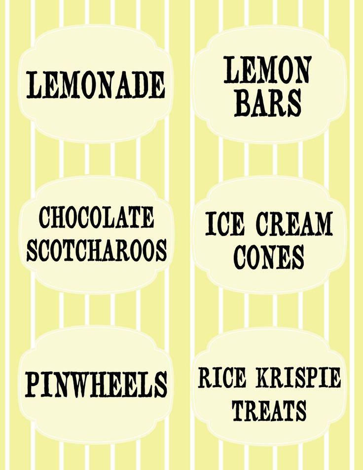 Lemonade Stand Free Printables! ~ Aly&Ash