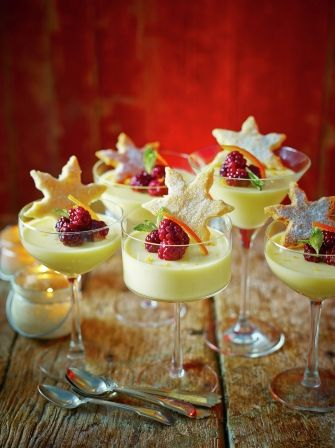St Clement's posset with starry shortbread - use for shortbread recipe