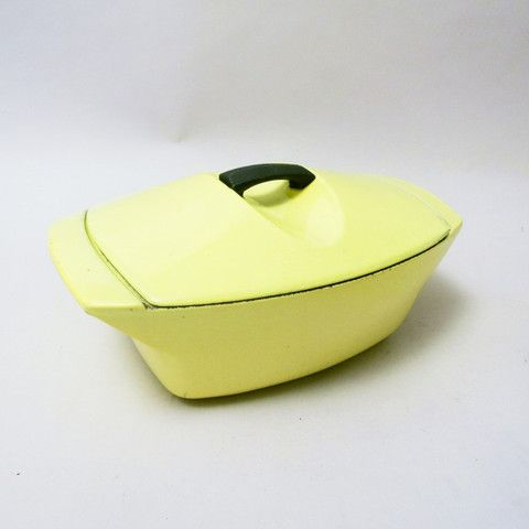 Yellow Coquelle by Raymond Loewy Le Creuset 1952