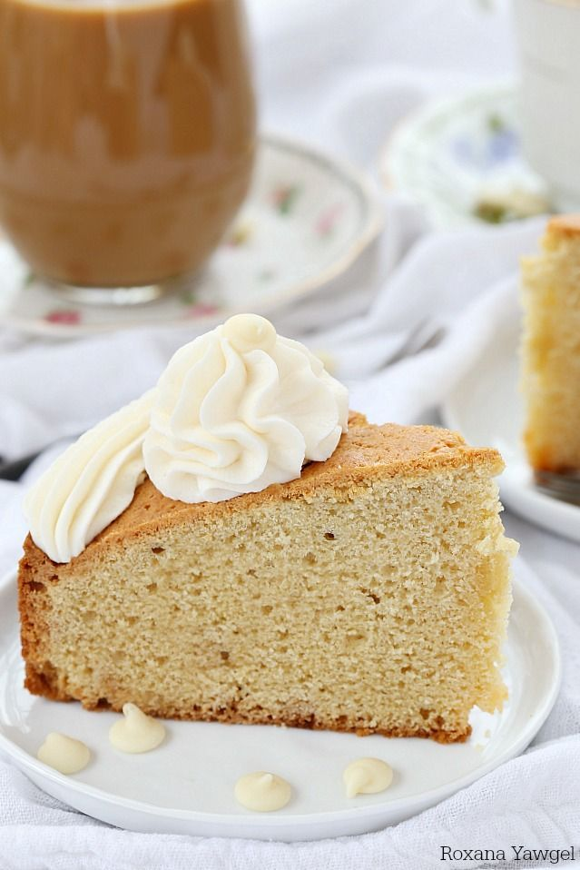 Delicious soft and tender cake with melted white chocolate in every bite, this white chocolate coffee cake is the perfect accompaniment to coffee, tea or as an afternoon snack. #indelight