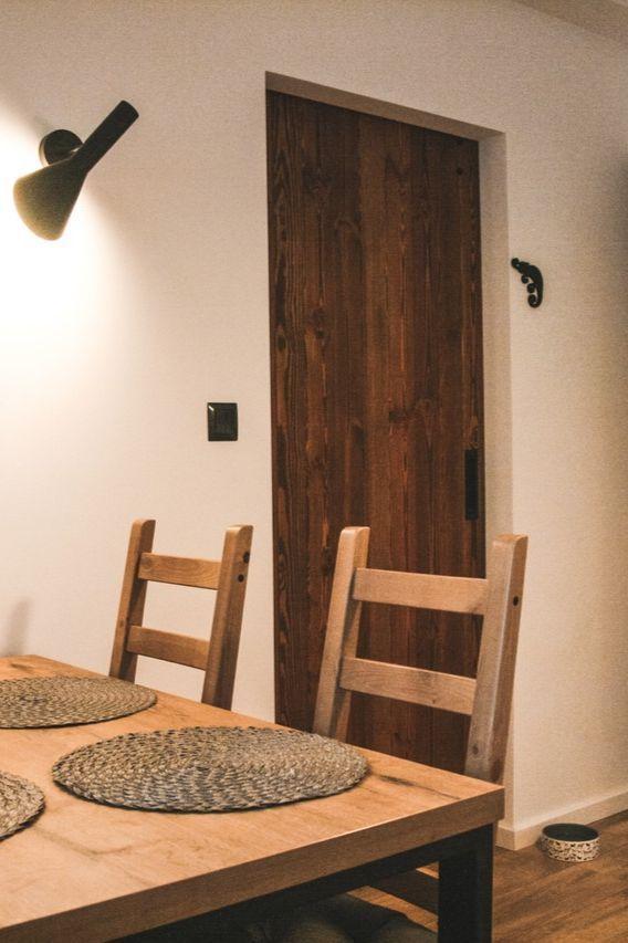 Skandinavische Kuche Und Esszimmer Schiebeturen Aus Holz