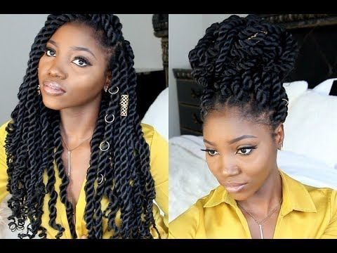 How To Diy Goddess Rope Twist Youtube Wigs I Want In 2019