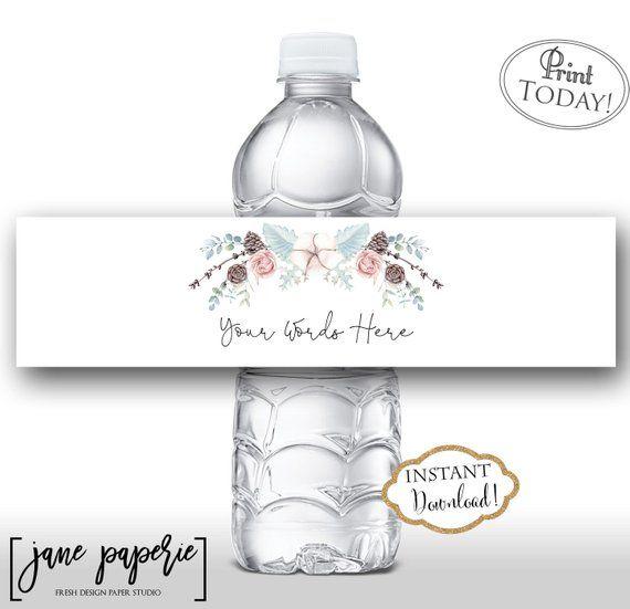 Winter Water Bottle Labels Bridal Baby Shower Water Bottle Etsy Water Bottle Labels Baby Shower Water Bottle Labels Wedding Wedding Water Bottles