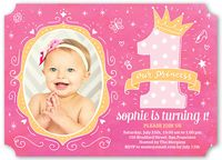 1570 best birthday images on pinterest gold glitter anniversary personalized birthday party invitation order yours at boardman printing baby girl 1st stopboris Gallery