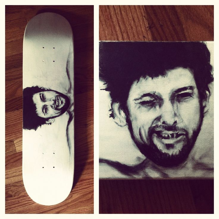 Shane Macgowan Handmade Skateboard Art Portrait
