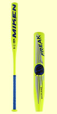 The 2017 Miken Freak 30 Maxload USSSA Slow Pitch Softball Bat (MFILBU) features a 12 inch barrel length and a 0.5 ounce end load that is perfect for both power and contact hitters. This softball bat is HOT! Check it out today over at JustBats where the shipping ALWAYS free.