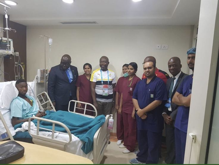 FIFA U17 World Cup: Ghana's ambassador to India Mike Ocquaye Jnr visits injure...