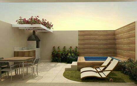 Las 25 mejores ideas sobre piscinas del patio trasero for Asador en patio pequeno