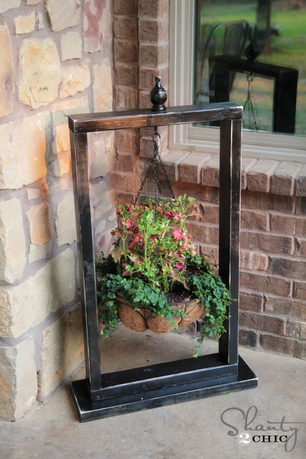 Best 25 Hanging Basket Stand Ideas On Pinterest Diy