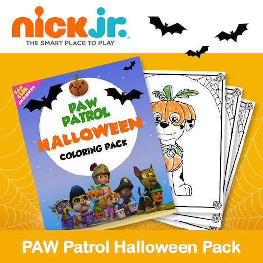 Nick Jr Has A Fun New Printable PAW Patrol Halloween Coloring Pack It Includes