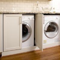 retractable doors around washer/dryer | - laundry/mud rooms - hidden laundry room, hidden washer and dryer ...